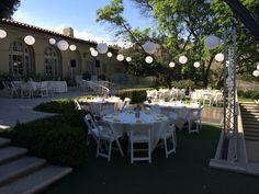 Summertine evening reception at the #kellogghouse  #outdoorvenue #venue #wedding #marriage #love #reception #weddingreception #garden #lanterns