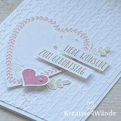 Stampin`Up! Wünsche zum Geburtstag Heart Happiness Für Schatz-Karten Alle meine Geburtstagsgrüße Florales Duo