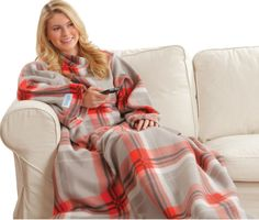 Show details for Snuggie® Blanket - Red Plaid