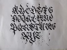 Calligraphy pack 2 / by Mateusz WLK Wolski, via Behance Gothic Lettering, Chicano Lettering, Graffiti Lettering Fonts, Graffiti Alphabet, Script Lettering, Lettering Design, Tattoo Lettering Alphabet, Calligraphy Fonts Alphabet, Tattoo Lettering Styles