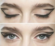 Graphic Cat Eye Makeup - editorial make up inspiration
