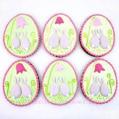 Biscuits décorés œufs de Pâques petits lapins