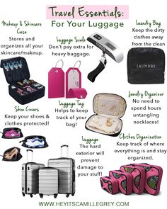 How to Pack and Prepare For Your Flight   Hey Its Camille Grey #packing #travel #airplane #flight #planeessentials