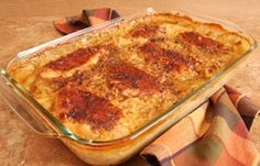 How to Bake An Easy Chicken and Rice Casserole with condensed soup--what Charlie requested.