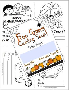 one great and fun little fundraiser that has become a tradition is our boo grams at halloween - Halloween Fundraiser Ideas