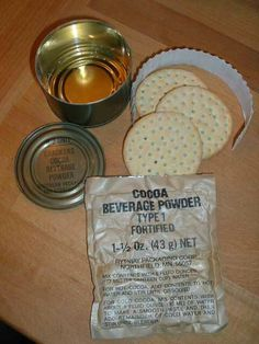 My family and I lived on these for weeks, perhaps months, during the Tet Offensive. And in the early there were times then. The canned and powdered milk was the worst. Military Food, Military Life, Military History, Army Day, Us Army, What Is A Veteran, Vietnam Vets, My War, Emergency Supplies
