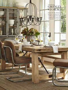 Simple Details: retro chrome chairs at pottery barn...