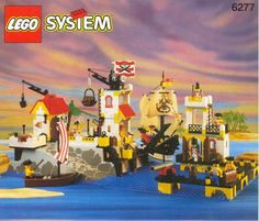 LEGO Set 6277-1 Imperial Trading Post - building instructions and parts list. Theme: Pirates; Year: 1992; Parts: 622; Tags: boat building checked/complete ship