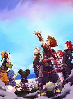 Sora's my favorite character from Kingdom Hearts and I collect and draw images featuring him and his friends. Kingdom Hearts Characters, Kingdom Hearts Games, Kingdom 3, Kingdom Hearts Fanart, Kingdom Hearts Wallpaper, Tetsuya Nomura, Kindom Hearts, Pixar Characters, Kaito