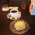 セピア - 料理写真:ブレンドコーヒーとレモンケーキ。レモンケーキは昭和40年代の味らしい