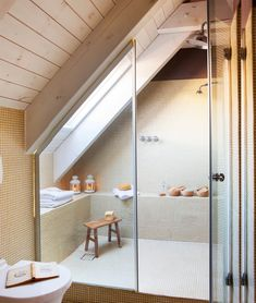 bathroom layout ideas saving space in your home page 1 Small Attic Bathroom, Mold In Bathroom, Loft Bathroom, Upstairs Bathrooms, Bathroom Design Small, Bathroom Layout, Bathroom Interior Design, Bathroom Designs, Bathroom Ideas