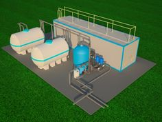 Compact Sewage Treatment Plants Sewage Treatment, Outdoor Furniture, Outdoor Decor, Sun Lounger, Homesteading, Sustainability, Compact, Grey, Building