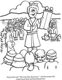 BIBLE COLORING PAGES. King Josiah - Cut the Ropes of Sin Lesson