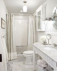 Sarah Richardson bathroom \\ or something like this behind the shower head
