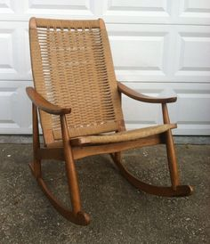 Hans Wegner Style Rocking Chair by SalvageModern on Etsy, $250.00