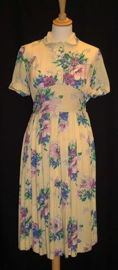 M&S Wartime Utility Clothing - Floral Utility wear dress from 1940s, 40s fashion, fashion on the ration UK