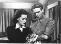 Maureen O'Hara and Kent Smith in This Land is Mine Paul Martin, Louise's brother, tried to kill the German commandant Major von Keller, but instead kills two soldiers. Paul Martin, Maureen O'hara, Cinema, Old Friends, Old Hollywood, Redheads, Couple Photos, Film, Men
