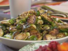 Get Trisha Yearwood's Brussel Sprouts with Pistachios Recipe from Food Network