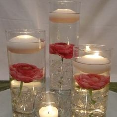 floating flowers with floating candle