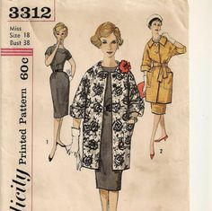 A Belted, Kimono Sleeve Sheath Dress & 3/4 Length Sleeve Straight Top Button Coat Pattern by So Sew Some!