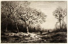 December, n.d., Henry Farrer, etching on paper, 4 1/2 x 6 7/8 in. (11.4 x 17.5 cm), Smithsonian American Art Museum, Transfer from the National Museum of American History, Division of Graphic Arts, Smithsonian Institution, 1971.190