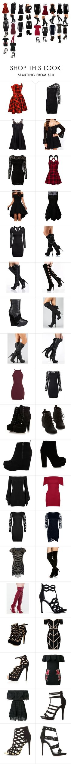 """going to the club 5"" by moree-sabra ❤ liked on Polyvore featuring Vero Moda, John Zack, H&M, Liliana, Victoria's Secret, Gareth Pugh, ALDO, Boohoo, Kendall + Kylie and Command"
