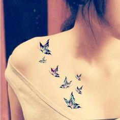 Blue Butterflies Tattoo