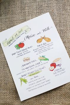 These are really sweet for a rehearsal dinner, via WED.