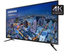 "Smart TV LED 4K Ultra HD 40"" Samsung UN40JU6000 - Conversor Integrado 3 HDMI 2 USB Wi-Fi"