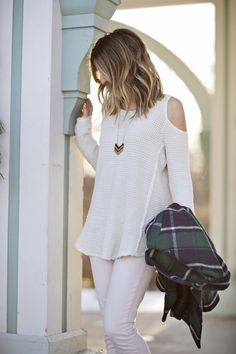 "The Shoulder trend inspiration #Evereve-I do not wear tank tops and the ""off the shoulder"" style would be new for me but this top looks like a good piece to try cuz there is minimal shoulder showing"