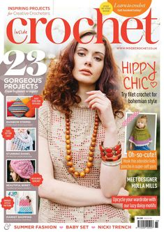 Inside crochet issue 65 2015 by Quynh Ngoc Vo - issuu Crochet Chart, Love Crochet, Filet Crochet, Learn To Crochet, Knit Crochet, Crochet Winter, Crochet Summer, Knitting Magazine, Crochet Magazine