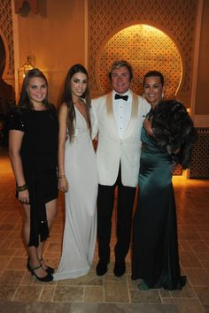 Sisters Tallulah & Amber Le Bon with their parents, Duran Duran's Simon Le Bon & wife/ex-supermodel Yasmin Le Bon - Your Moment is Waiting Launch Party - Zimbio