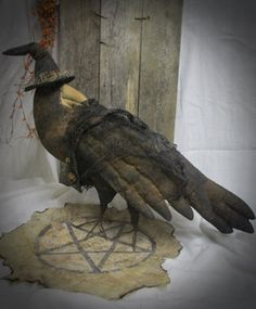 Crow with Pentagram by CrustyOldCrows on Etsy