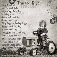Little Boys and their tractors.I have wonderful memories of my boys riding around on their johndeer tractor Leadership Quotes, Sweet Boys, Baby Boys, Positiv Quotes, Little Boy Quotes, Pomes, Love Hug, John Maxwell, Visual Statements