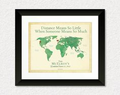 Long Distance Family Gift, Friend Gift, Military family Gift, Personalized World Map, 8x10 Print