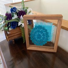 Crochet Doily Art - Blue Doliy - Home Decor - Farmhouse Decoration – Borgmanns Creations Doily Art, Rustic Home Interiors, Wall Hanger, Hangers, Country Farmhouse Decor, Christmas Decorations, Holiday Decor, Gifts For Wedding Party, Hanging Signs