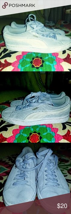 half off 94286 58dcb Old school style suede Pumas Skate or die! I love these, but can t wear them  due to custom orthotics!