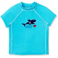Sea Me Swim Newborn Baby Boys Rash Guard, Newborn Girl's, Size: 12 - 18 Months, Blue