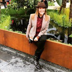 The lovely Cerys Matthews enjoying the World Vision Garden at RHS Chelsea flower show 2015