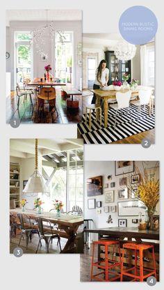 Modern rustic dining room favorites on aliceandlois.com