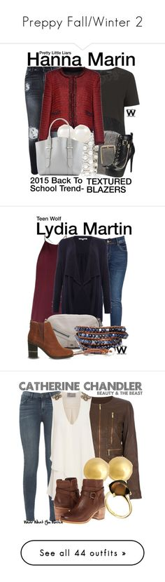 """Preppy Fall/Winter 2"" by taylor-monroe-3 ❤ liked on Polyvore featuring 7 For All Mankind, Topshop, Alice + Olivia, Accessorize, Alexander McQueen, BackToSchool, television, wearwhatyouwatch, TIBI and Annabelle"