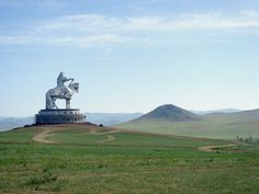 Genghis Khan statue on the Mongolian steepes