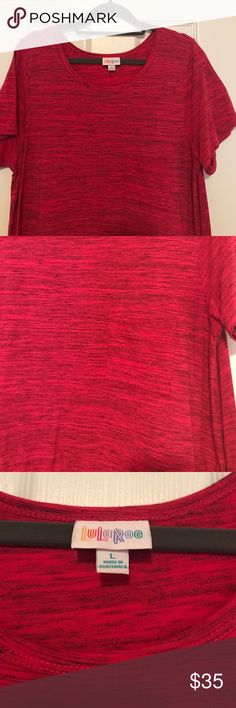 LuLaRoe Carly.   L.   Magenta/red.  Great shape! LuLaRoe Carly.   L.   Magenta/red.  Great shape!  Pocket on front. LuLaRoe Dresses