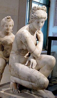 Aphrodite and Eros at the Hermitage. Roman copy from a Greek original, Ancient Rome. Ancient Rome, Ancient Greece, Ancient Art, Greece Art, Hellenistic Period, Roman Gods, Minoan, Greek Gods, Sculpture Art