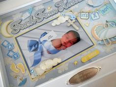 Baby Boy Keepsake Box with Engraved Name Plate by theshadowbox, $125.00