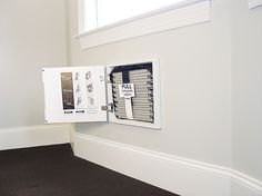 Make emergency exit easier. Required by code for bedrooms, and a good idea for any attic room, is a window that can be used for an escape in case of an emergency. An in-wall rope ladder installed beneath it, hidden by a cabinet door, will give you extra peace of mind. From about $300, egressescapewindows.com