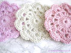 Crochet coasters free pattern | Bella Coco