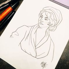 #inktober Day 9: Mary Wollstonecraft  She was an English writer who advocated for women's equality. In her book A Vindication of the Rights of Woman which calls for women and men to be educated equally she established the basis of modern feminism. Today Wollstonecraft is regarded as one of the founding feminist philosophers.     #inktober #inktober2017 #ink #drawing #illustration #wonderwomen #marywollstonecraft #womanwriter #womensequality #rightsofwomen #feminist Feminism Today, Modern Feminism, English Writers, Wonder Women, Women In History, Inktober, Equality, Artsy, Woman