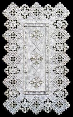 See the pretty Hardanger Silver Fantasy Runner at Nordic Needle Embroidery Designs, Types Of Embroidery, Learn Embroidery, Embroidery For Beginners, Embroidery Techniques, Hand Embroidery, Embroidery Supplies, Bookmark Craft, Drawn Thread