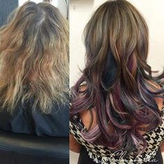 Oil slick hair - LOVE the layers!